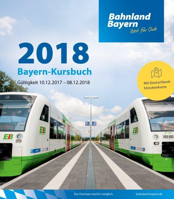 Bayern-Kursbuch 2018 als Buch