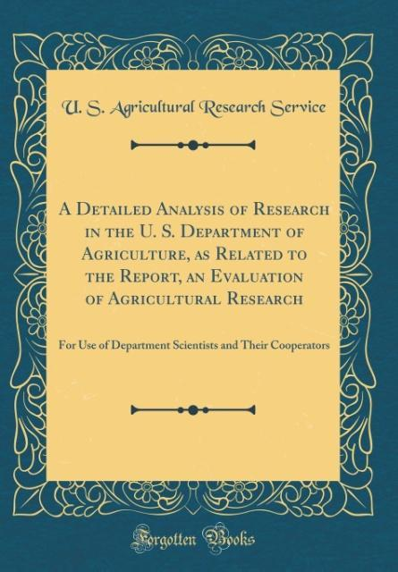 A Detailed Analysis of Research in the U. S. De...