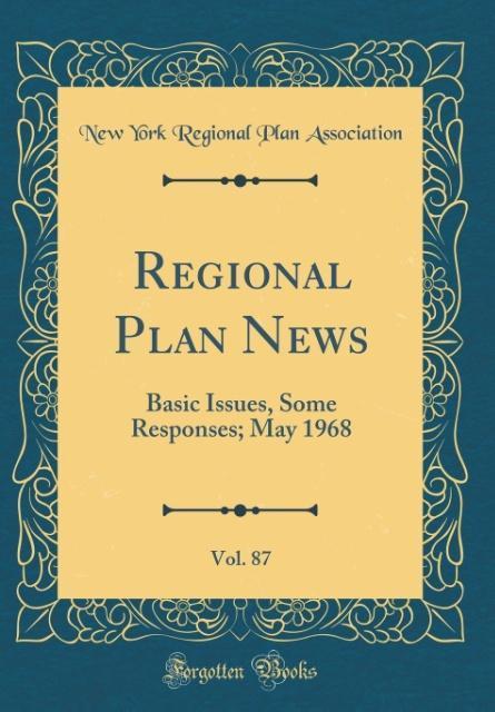 Regional Plan News, Vol. 87 als Buch von New Yo...