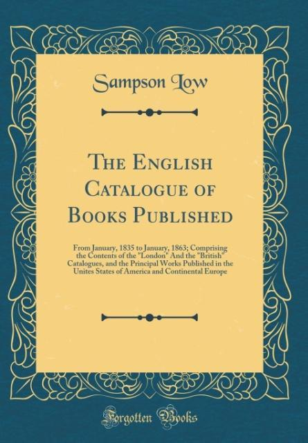 The English Catalogue of Books Published als Bu...