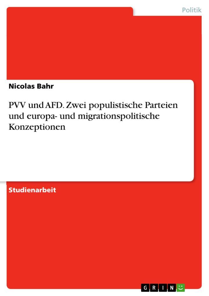 PVV und AFD. Zwei populistische Parteien und eu...