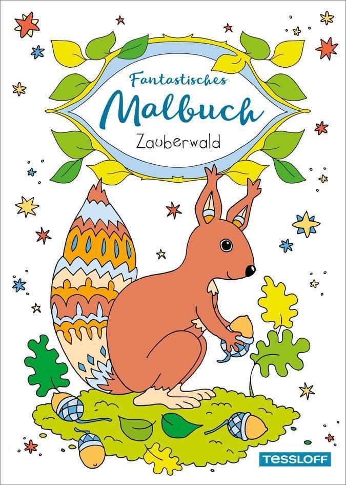 Fantastisches Malbuch Zauberwald als Buch von