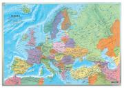 Europa politisch, Wandkarte 1:6 Mio., Magnetmarkiertafel