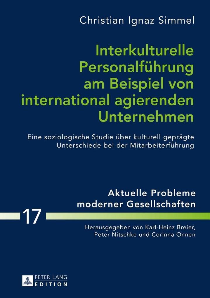 Interkulturelle Personalfuehrung am Beispiel vo...