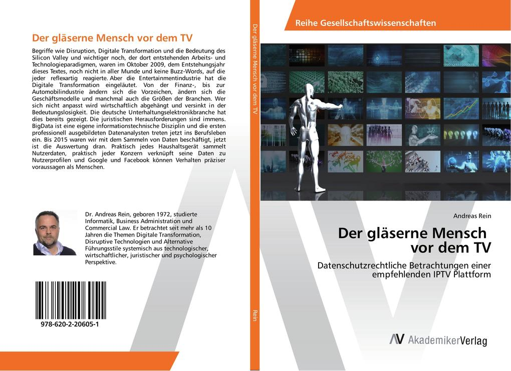 Der gläserne Mensch vor dem TV als Buch von And...