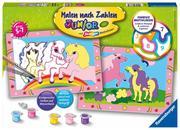 Süße Ponys Malen nach Zahlen Junior