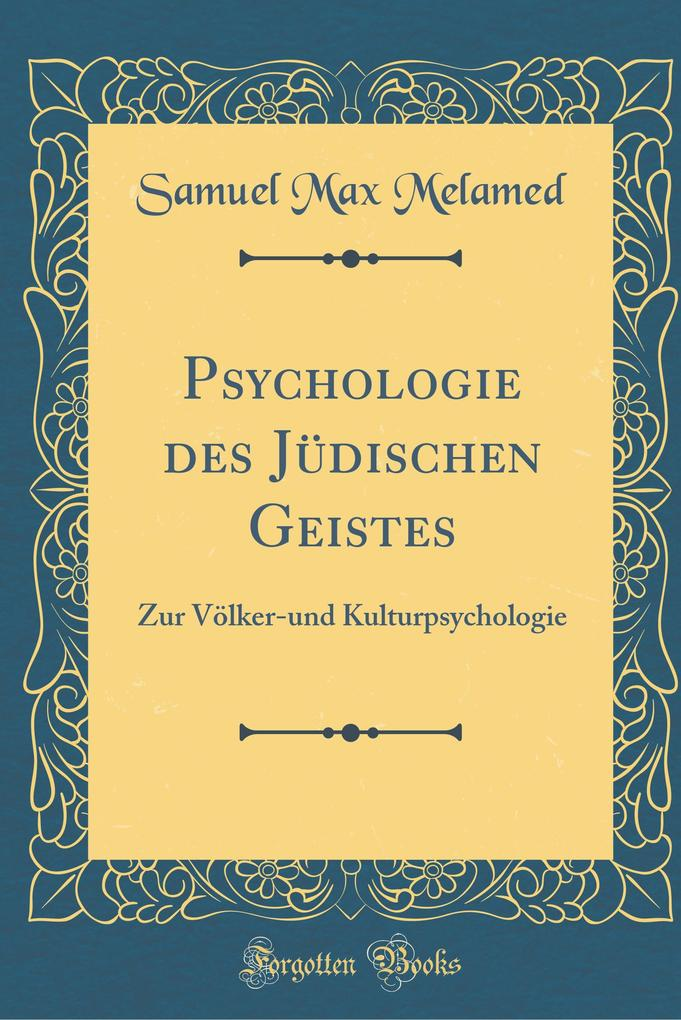 Psychologie des Jüdischen Geistes als Buch von ...
