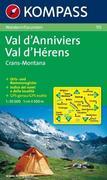 Val d'Anniviers - Val d'Hérens - Crans-Montana 1 : 50 000