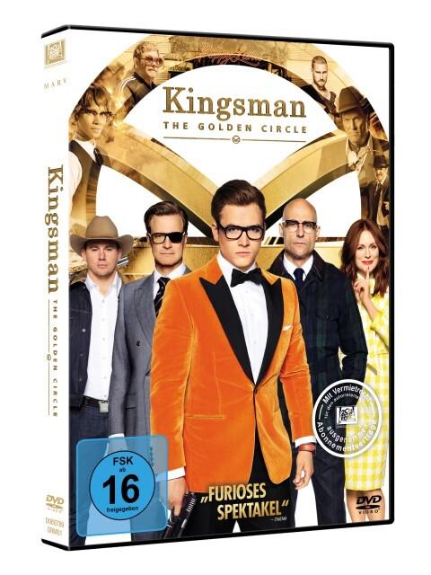 Kingsman - The Golden Circle als DVD