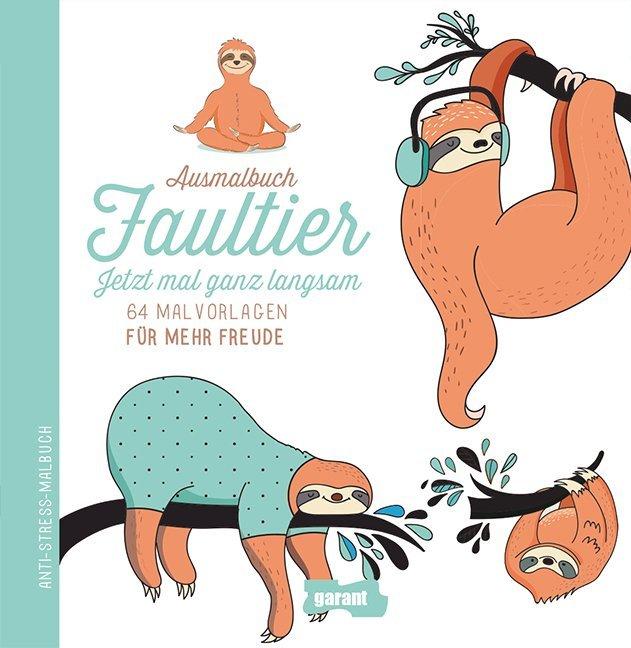 Ausmalbuch Faultier (Buch) - portofrei