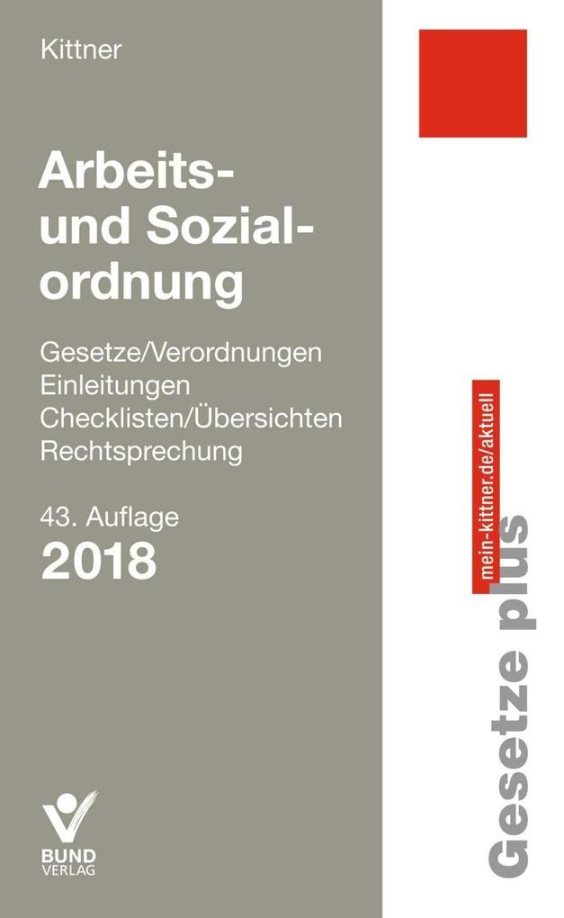 Arbeits- und Sozialordnung als Buch
