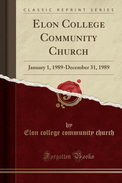 Elon College Community Church als Taschenbuch v...