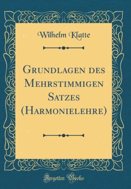 Grundlagen des Mehrstimmigen Satzes (Harmoniele...