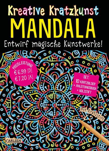 Kreative Kratzkunst: Mandala: Set mit 10 Kratzbildern, Anleitungsbuch und Holzstift als Buch