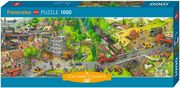 Heye - Panormapuzzle - Busy Day Panorama, 1000 Teile