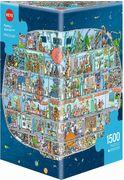 Heye - Triangularpuzzle - Spaceship Triangular, 1500 Teile