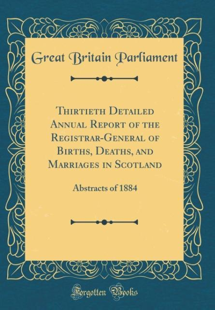 Thirtieth Detailed Annual Report of the Registr...