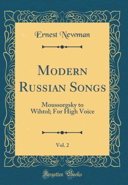 Modern Russian Songs, Vol. 2 als Buch von Ernes...