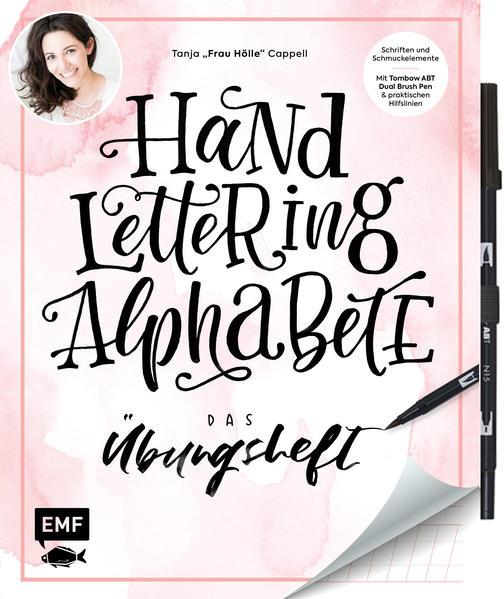 Handlettering Alphabete - Das Übungsheft mit original Tombow ABT Dual Brush Pen als Buch (kartoniert)