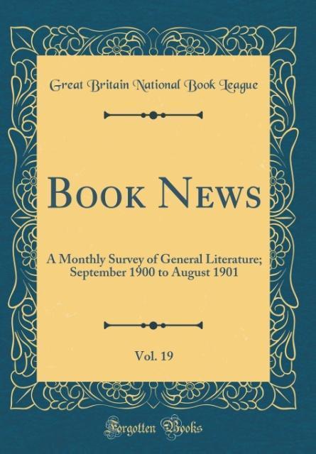 Book News, Vol. 19 als Buch von Great Britain N...