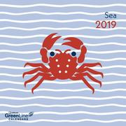 2019 Sea GreenLine Mini Grid Calendar