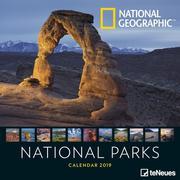 2019 Nat Geog National Parks Grid Calend