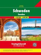 Schweden, Autoatlas 1:250.000 - 1:400.000