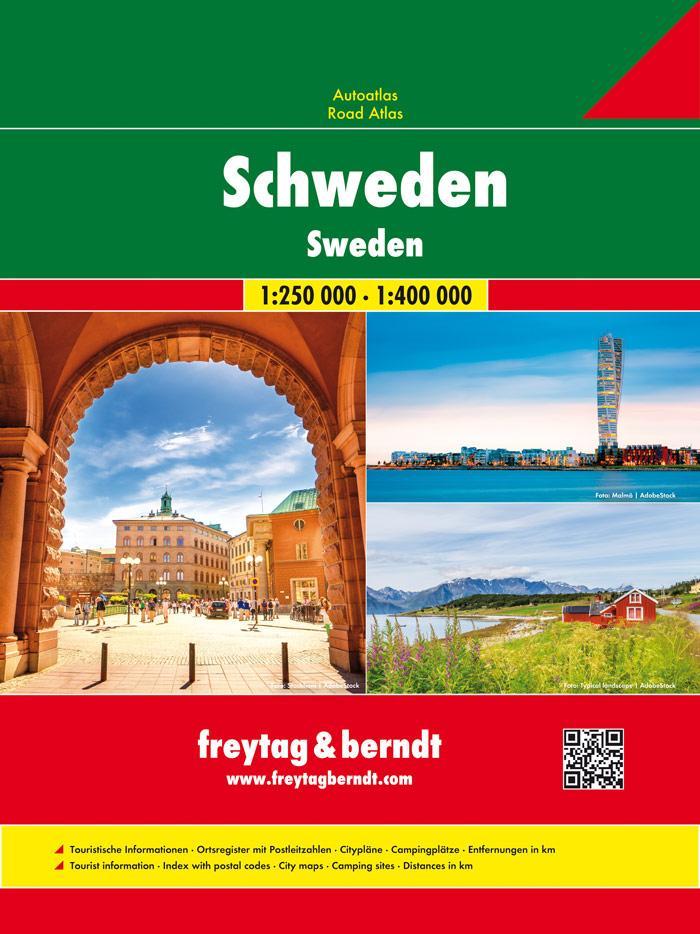 Schweden, Autoatlas 1:250.000 - 1:400.000 als Buch (kartoniert)