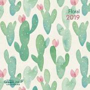 2019 Floral GreenLine Grid Calendar