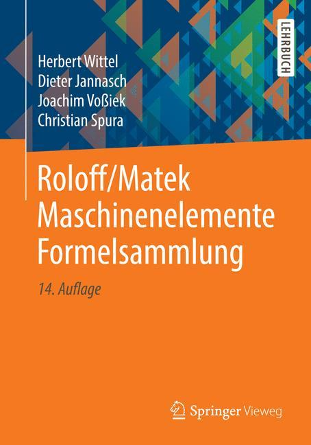 Roloff/Matek Maschinenelemente Formelsammlung als Buch