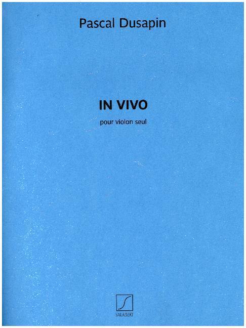 In Vivo, Violine als Buch von Pascal Dusapin