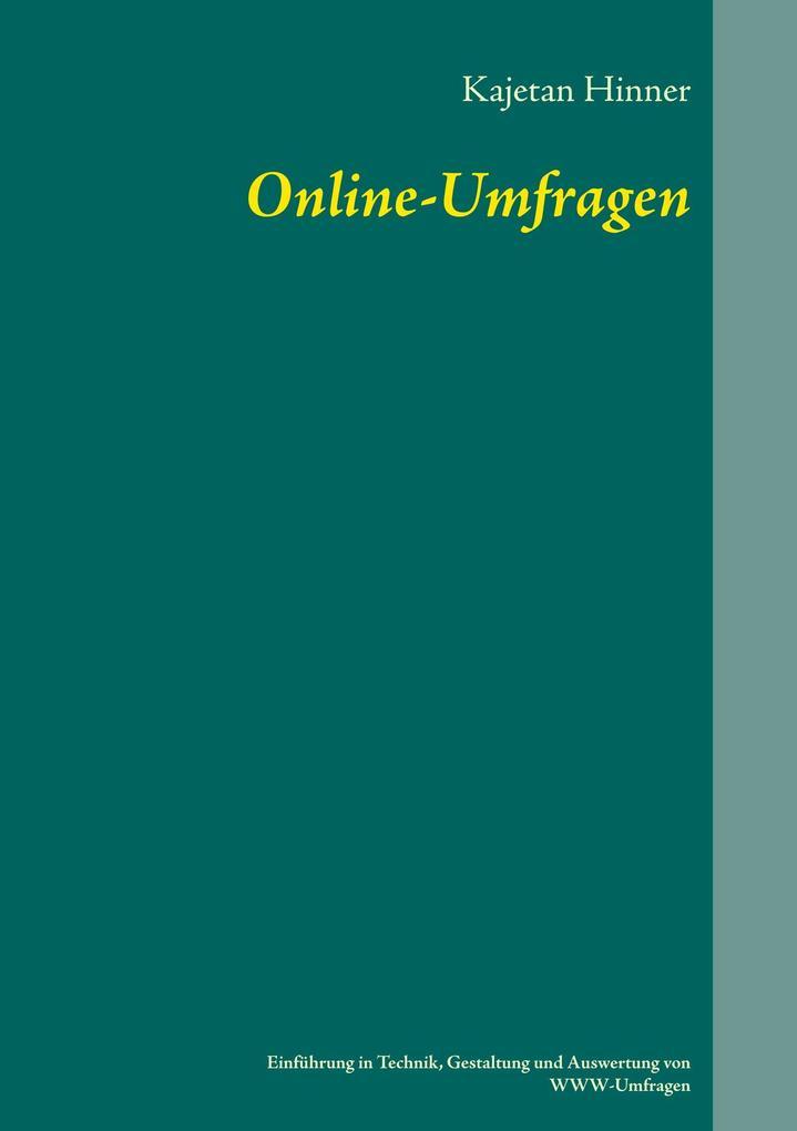 Online-Umfragen als Buch von Kajetan Hinner