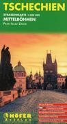 Tschechien - Straßenkarte Mittelboehmen 1 : 200 000