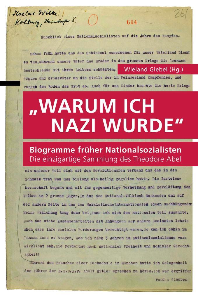 """""""Warum ich Nazi wurde"""" als Buch"""