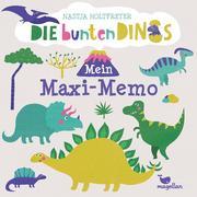 Die bunten Dinos - Mein Maxi-Memo