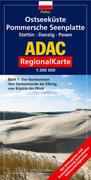 ADAC RegionalKarte Polen 1. Ostseeküste. Pommersche Seenplatte. Stettin. Danzig. Posen 1 : 300 000