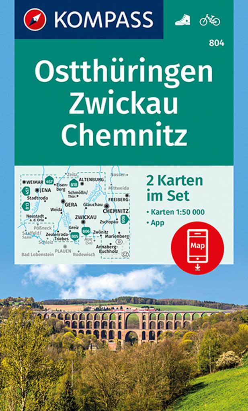 Ostthüringen, Zwickau, Chemnitz 1:50 000 als Bu...