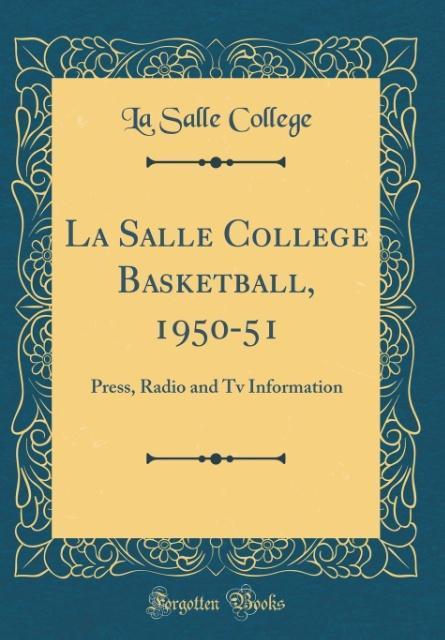 La Salle College Basketball, 1950-51 als Buch v...