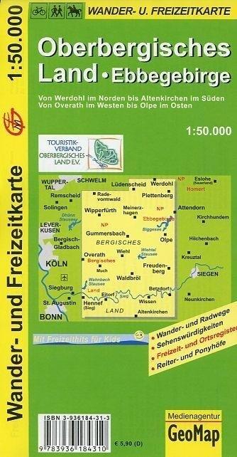 Oberbergisches Land 1 : 50 000 / Wander- und Fr...