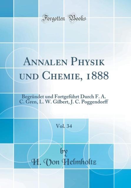 Annalen Physik und Chemie, 1888, Vol. 34 als Bu...
