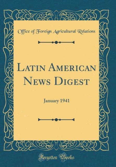 Latin American News Digest als Buch von Office ...