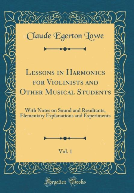 Lessons in Harmonics for Violinists and Other M...