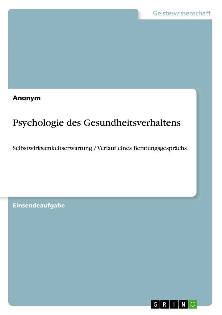Psychologie des Gesundheitsverhaltens als Buch ...