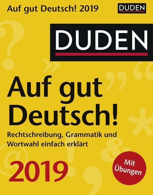 Duden Auf gut Deutsch! 2019 als Kalender