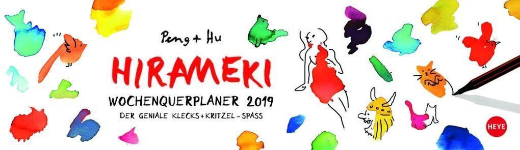 Hirameki Wochenquerplaner - Kalender 2019