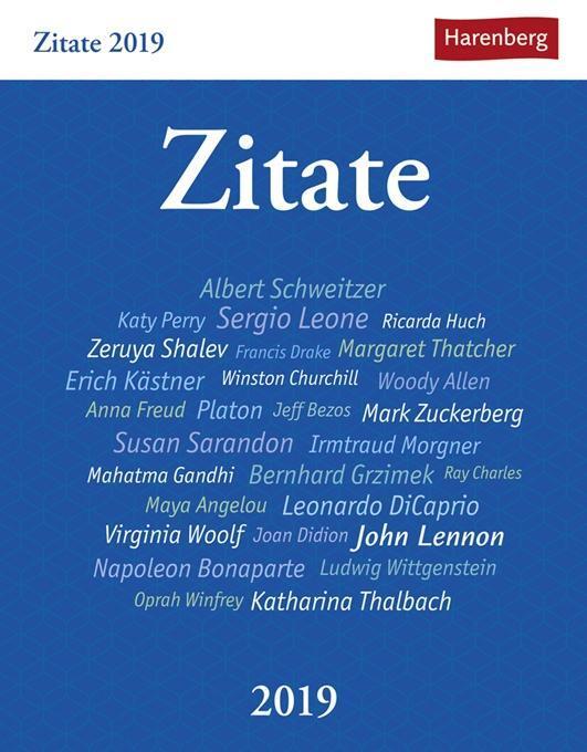 Zitate - Kalender 2019