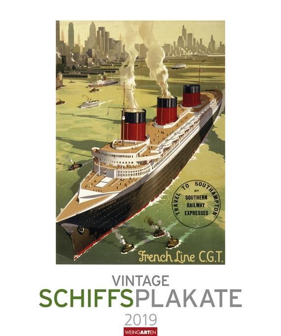 Vintage Schiffsplakate - Kalender 2019