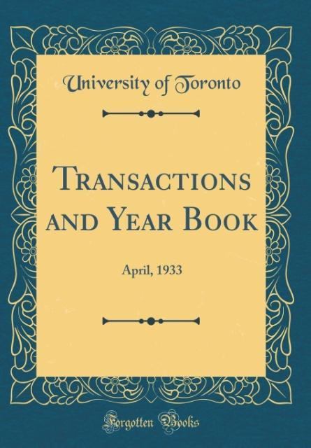 Transactions and Year Book als Buch von Univers...