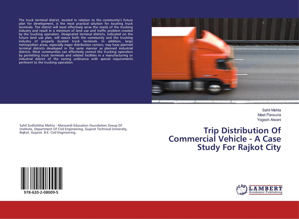 Trip Distribution Of Commercial Vehicle - A Cas...