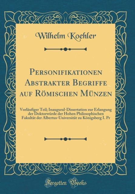 Personifikationen Abstrakter Begriffe Auf Römischen Münzen Buch
